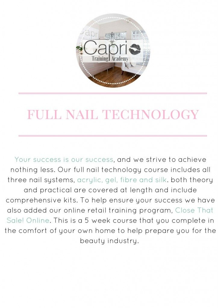 Full Nail Technology - Capri Academy & Clinic